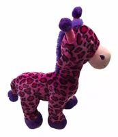 "Fiesta Leopard Print Giraffe Plush Pink Purple Spotted Stuffed Animal 20"""