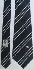 -AUTHENTIQUE  cravate cravatte  GUCCI  100% soie  TBEG  vintage