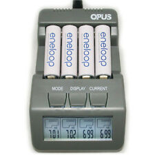 Opus BT-C700 4 Slots LCD Digital Battery Charger For NiMH NiCd AA AAA Batteries