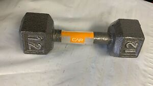 New, CAP Barbell  Cast Iron Solid Hex Dumbbell, 12 Pounds. Single
