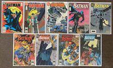 Batman #423,424,425,430,431,432,433,434,435 DC Comics 1988 Lot