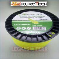 Filo Decespugliatore Quadro 2.4 mm Universale Nylon 88 Metri Bobina Sikurotech
