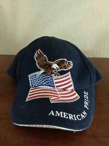 Bio Domes Baseball  Hat Bald Eagle American Flag Cap Patriotic
