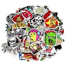 Cool Random Bulk Pack of 100 Stickers Skateboard Snowboard Vinyl Bumper Sticker