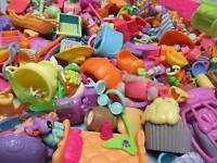 Littlest Pet Shop Accessories Food Dishes Cart Lot 15 Pc Random Authentic
