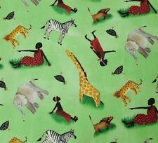 Joyful Days Julia Cairns for Quilting Treasures BTY African Women Giraffe Green