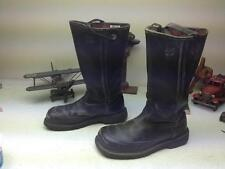 PRO MADE IN USA BLACK LEATHER DISTRESSED FIREMAN ENGINEER BOOTS 10D