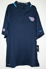 TENNESSEE TITANS new NIKE SIDELINE MENS DRI FIT COACH POLO SHIRT 537041 XL $95