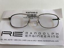 USA Pilotenbrille Randolph Engineering 48-140mm R387W99-G Pewter Frame 350