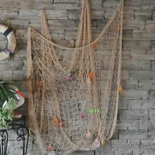 Decorative Outdoor Nautical Fishing Net Seaside Home Wall Beach Party Sea Shell