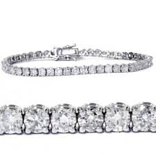 7.00 Ct Round HUGE Natural Diamond Tennis Bracelet 14K White Gold
