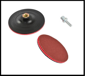 125mm Hook and Loop Backing Pad Polishing Sanding Angle Grinder M14 adaptor