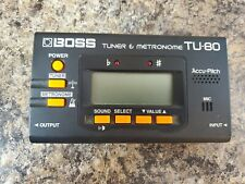 Boss Tuner And Metronome Tu-80 Used Works Tested *17
