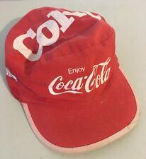 Vintage Coke Coca-Cola Hat Cap Cotton 1980s  Soda Promotional Advertising 03db50df2b91