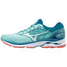 Mizuno WAVE RIDER 21 Women's Running Shoes Aqua Marathon Walking J1GD180365
