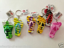 2 x Small FUNKY FLIP FLOP KEYRING Key Chain Party Bag Stocking Filler Kids Loot