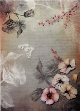 Rice Paper Decoupage Scrapbook and Craft Flowers Bouquet Butterfly 164