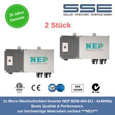 """2 Stück Micro-Wechselrichter /Inverter NEP BDM-600-EU Original """"Plug&Save"""""""