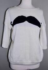 AIDA Anthrophologie Women's Mustache Sweater - Size M Medium
