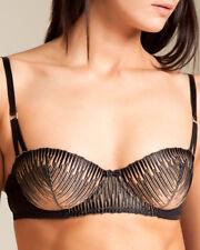 La Perla Studio Traviata 32D Balconette Bra Black Nude