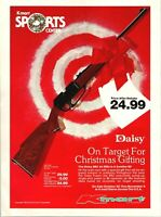 KMart Daisy 880 Air Rifle BB Gun Repeater Christmas Promo 1983 Vintage Print Ad