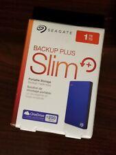 Seagate Backup Plus Slim 1TB External Hard Drive Portable USB Blue STDR1000102