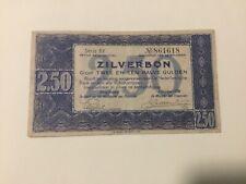 Nederland Zilverbon 2 1/2 gulden 1938 , BY 861618