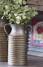 """Farmer BUCKET PAIL VASE Galvanized Dried Flower Vase Galvanized Metal 15""""H"""