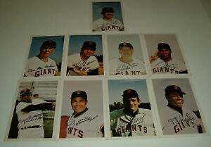 1971 Ticketron San Francisco Giants Lot Of 9 Different Willie Mays More