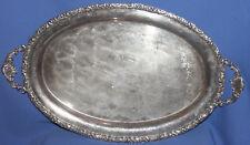 Vintage ornate metal serving tray platter