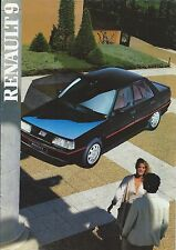 Renault 9 UK Market Brochure October 1986 Includes TC TL GTL Auto TD & Turbo