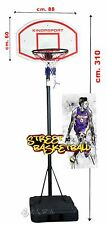 Panier Basket-Ball Bague Réglementaire 45,5 CM Taille 310 CM Lampadaire Panneau