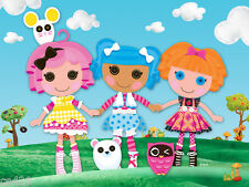 "6.5"" Lalaloopsy blanket feather group wall safe sticker border cut out character"