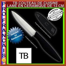 COUTEAU CUISINE CERAMIQUE TOP QUALITE TB 13 CM LAME BLANCHE +ETUI DE PROTECTION