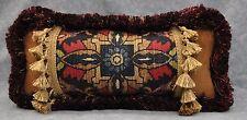 Ralph Lauren Poet's Society Tapestry & Gold Corduroy Fabric Custom Pillow 15 x 7
