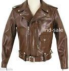 Custom Tailor Made All Size Genuine Leather Jacket BRANDO TERMINATOR STYLE BIKER