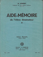 Livre aide-mémoire de l'élève dessinateur M. Norbert book
