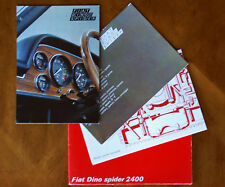 Fiat Dino 2.4 Spider (Ferrari engine) brochure Prospekt, 1969