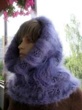 Mohair sweater Cowl-Neck T-neck  Warmer SCARF TUBE Purple