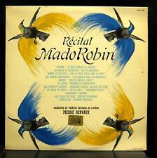 MADO ROBIN recital LP Mint- OVC 276 Pierre Dervaux France EMI Pathe Mono