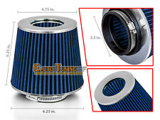 """BLUE 3.5"""" Inches Inlet 89mm Cold Air Intake Cone Dry Type Filter For Infiniti"""