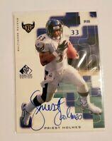 1999 SP Signature Edition Signatures #PH Priest Holmes Baltimore Ravens Auto