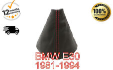 BMW E30 1981-1994 GENUINE LEATHER GEAR GAITER COVER RED STITCH