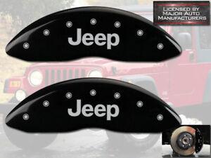 "2008-2017 ""Jeep"" Patriot Front Black Engraved MGP Brake Disc Caliper Covers 2pc"