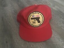 Vintage 80's Red Glock Perfection Patch Trucker Hat Cap Snap Back USA Rare