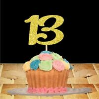 Birthday Cake Number Toppers 13 16 18 20 21 30 40 50 60 70 80 90 100 Any Age
