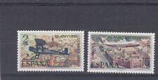 Espagne 1971 1712-13 ** Cinquantenaire du courrier aérien Vue aérienne Séville