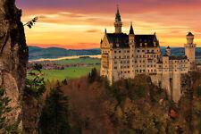 Leinwandbild, 100x70cm, Bayern, Nature, Schloss Neuschwanstein, 16isa