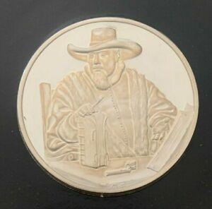 "The Genius of Rembrandt_Sterling Silver Proof Medallion_""Portrait of Cornelis"""
