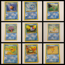 Carte gioco singole collezionabili Pokémon acque set base